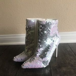 Shoes - Sequin Boot Heels